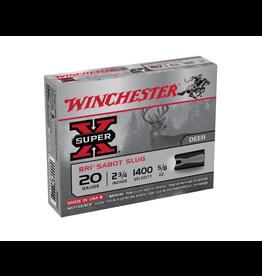 """WINCHESTER WINCHESTER SUPER-X 20GA SLUG 2 3/4"""" - 5/8 OZ 5 RDS"""