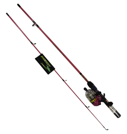 "Master Roddy MASTER RODDY 5'6"" LIGHTED SPINCAST COMBO PINK ML REEL"