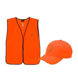 BROWNING SAFETY HUNTER CAP & VEST COMBO