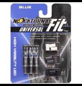 RAGE ARCHERY RAGE NOCKTURNAL UNIVERSAL FIT BLUE NOCKS