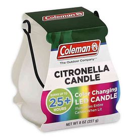 COLEMAN SCENTED CITRONELLA CANDLE COLOR CHANGING LED