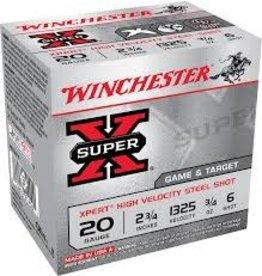 "WINCHESTER WINCHESTER SUPER-X XPERT 20GA 2 3/4"" -  3/4 OZ #6 25 RDS"