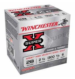 """WINCHESTER WINCHESTER SUPER-X 28GA 2 3/4"""" #6 25 RDS"""