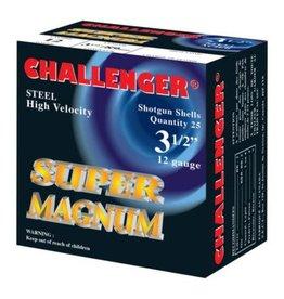 "CHALLENGER CHALLENGER SUPER MAG  STEEL 12GA 3 1/2"" #2 - 1 3/8 OZ 25 RDS"