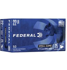 Federal FEDERAL .22 CAL LR BIRD SHOT 25 GR 12 LEAD SHOT 50 RDS