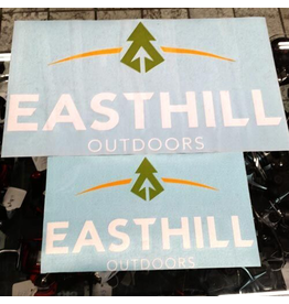 Graphic Lettering EASTHILL OUTDOORS STICKERS - LARGE