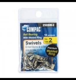 COMPAC COMPAC NICKEL WELDED BALL BEARING SWIVELS #2 10PK