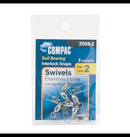 COMPAC COMPAC NICKEL BALL BEARING SWIVELS W/ INTERLOCK SNAPS