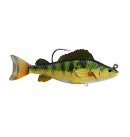 """KOPPERS KOPPERS LIVE TARGET SWIMBAIT 4 1/2"""" YELLOW PERCH YELLOW/ GREEN"""