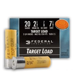"Federal FEDERAL TOP GUN 20GA 2 1/2"" - 7/8OZ  #7 1/2  - 25 RDS"