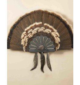 SKULL HOOKER TURKEY FAN WALL OR TABLE MOUNT