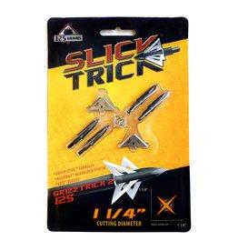 "Slick Trick SLICK TRICK BROADHEADS GRIZZTRICK 2 125 GR 1 1/4"" 4 BLADE"