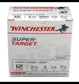"WINCHESTER WINCHESTER SUPER TARGET 12 GA 2 3/4"" 1 1/8 oz."