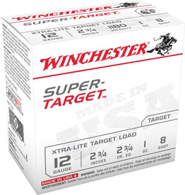 "WINCHESTER WINCHESTER SUPER TARGET 12 GA 2 3/4"" 1OZ #8 25 RDS"