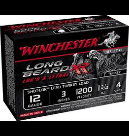 "WINCHESTER WINCHESTER LONG BEARD XR LOK'D & LETHAL 12 GA 3"" #4 1.75OZ 10 SHELS"