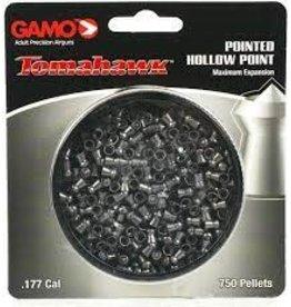 GAMO GAMO TOMAHAWK POINTED HOLLOW POINT .177 CAL 750 CT