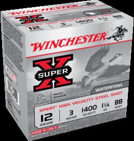 """WINCHESTER WINCHESTER SUPER-X EXPERT 12GA 3"""" 1.25OZ BB STEEL 25 RDS"""