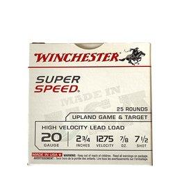 WINCHESTER WINCHESTER SUPER SPEED 20 GA 2 3/4 7 1/2 SHOT 25 RDS