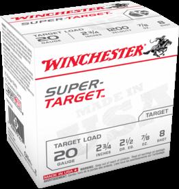"WINCHESTER WINCHESTER 20GA 2 3/4"" 25 SHOTSHELLS #8 - 25 RDS"