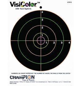 "CHAMPION CHAMPION VISICOLOR 100 YD SIGHT-IN 8"" 12PK"