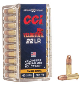 CCI CCI VELOCITOR 22LR 40GR GDHP SMALL GAME 50 RDS