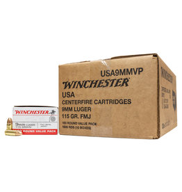 WINCHESTER WINCHESTER 9MM LUGER 115 GR 1000 RDS