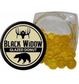 BLACK WIDOW BLACK WIDOW GLAZED DONUT BEADS 6 OZ