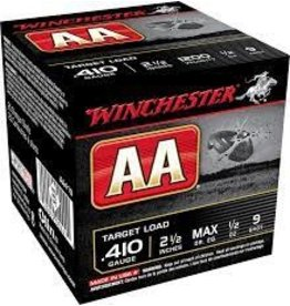 """WINCHESTER WINCHESTER AA TARGET LOAD .410 2 1/2"""" 1/2 OZ 9#"""