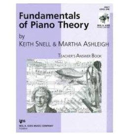 Kjos Fundamentals of Piano Theory, Level 1 Answer Book