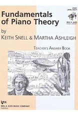 Kjos Fundamentals of Piano Theory, Level 8 Answer Book