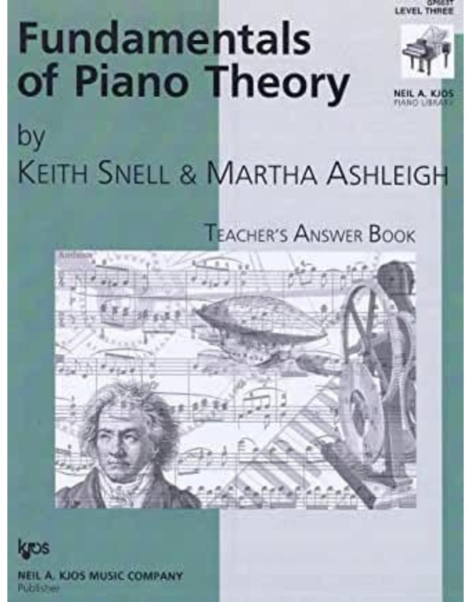 Kjos Fundamentals of Piano Theory, Level 3 Answer Book