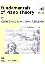 Kjos Fundamentals of Piano Theory, Level 4 Answer Book