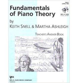 Kjos Fundamentals of Piano Theory, Level 2 Answer Book