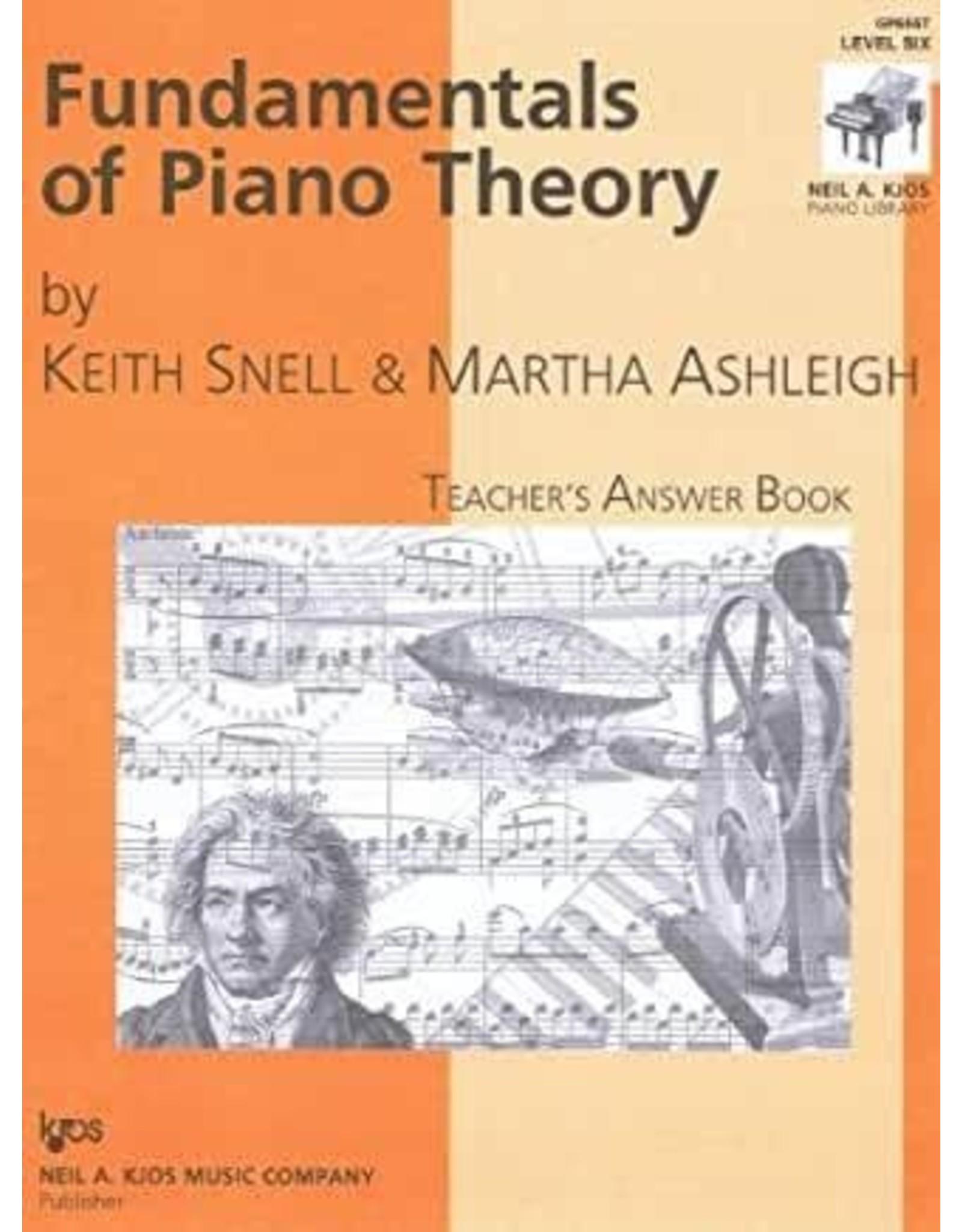 Kjos Fundamentals of Piano Theory, Level 6 Answer Book