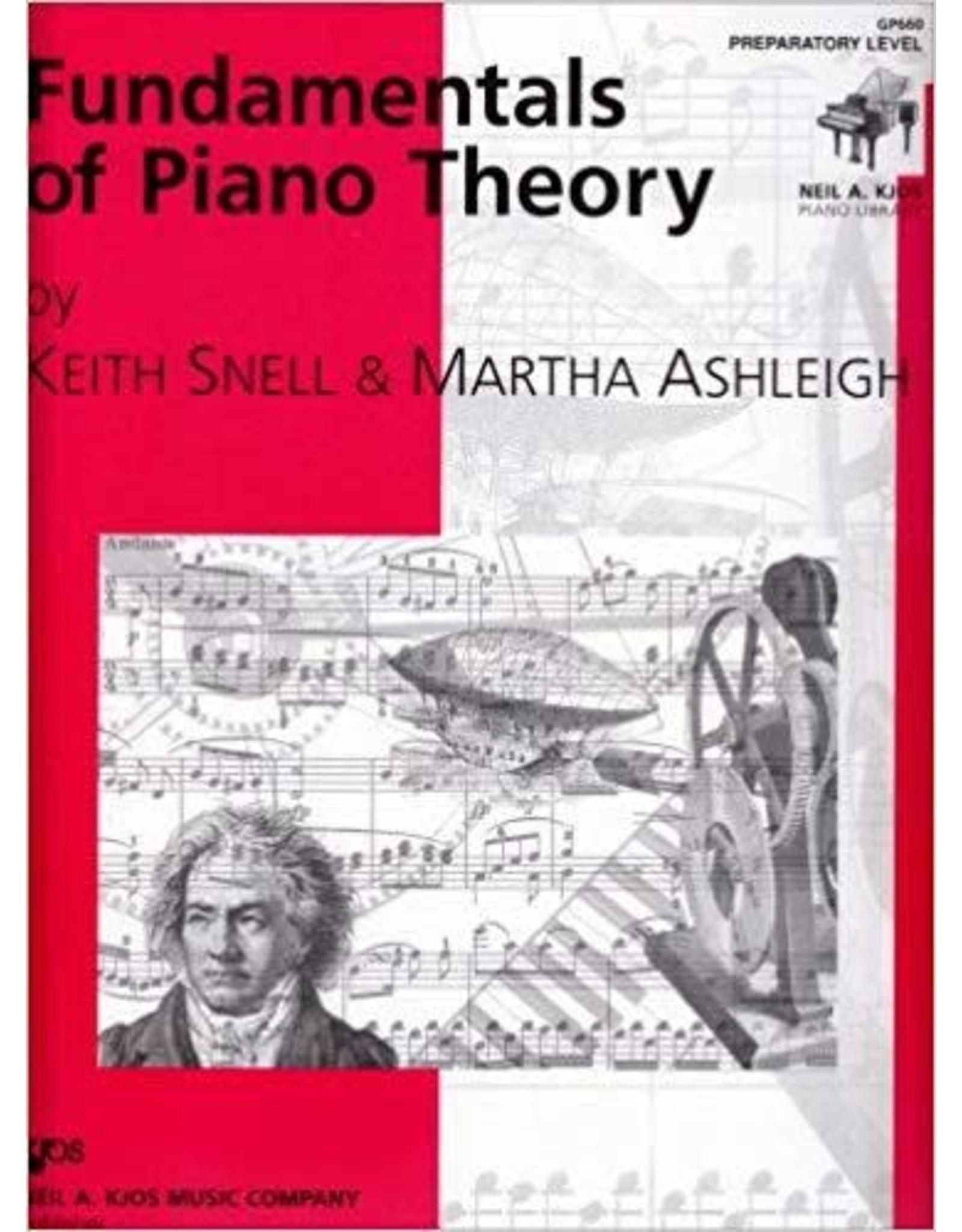 Kjos Fundamentals of Piano Theory, Preparatory Level Keith Snell