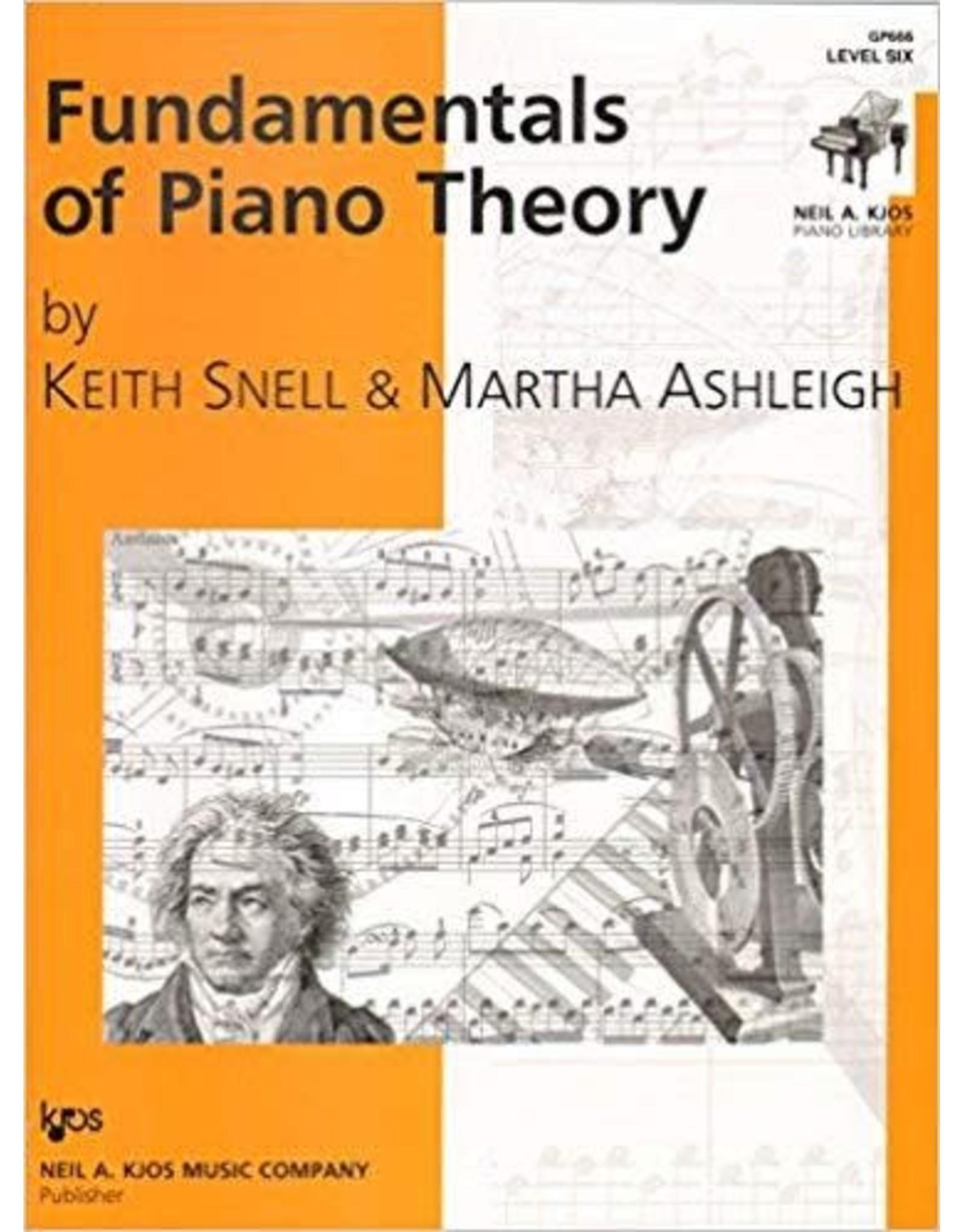 Kjos Fundamentals of Piano Theory, Level 6 Keith Snell