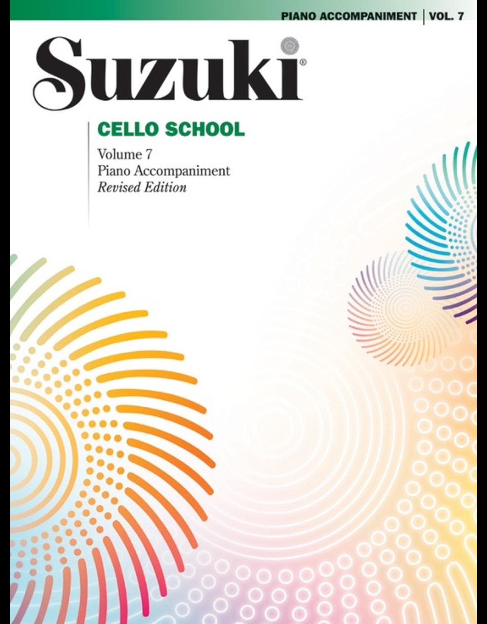 Alfred Suzuki Cello School Volume 7 Piano Acc. Revised Edition