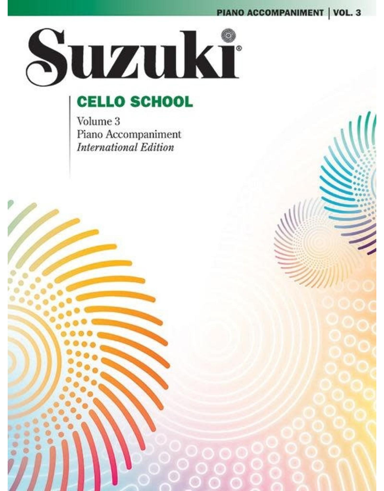 Alfred Suzuki Cello School Volume 3 Piano Acc. Revised Edition