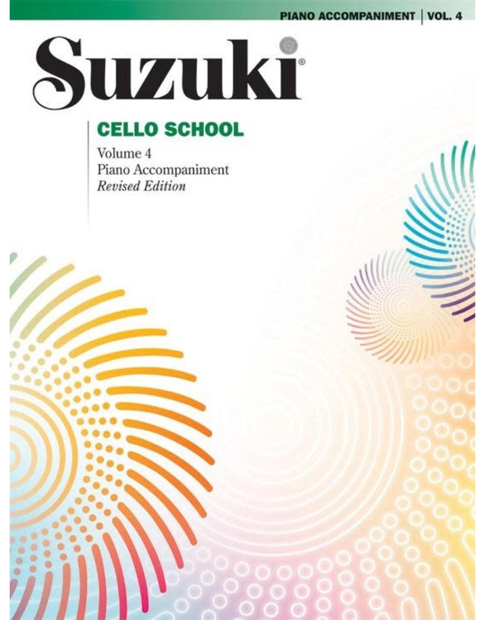 Alfred Suzuki Cello School Volume 4 Piano Acc. Revised Edition