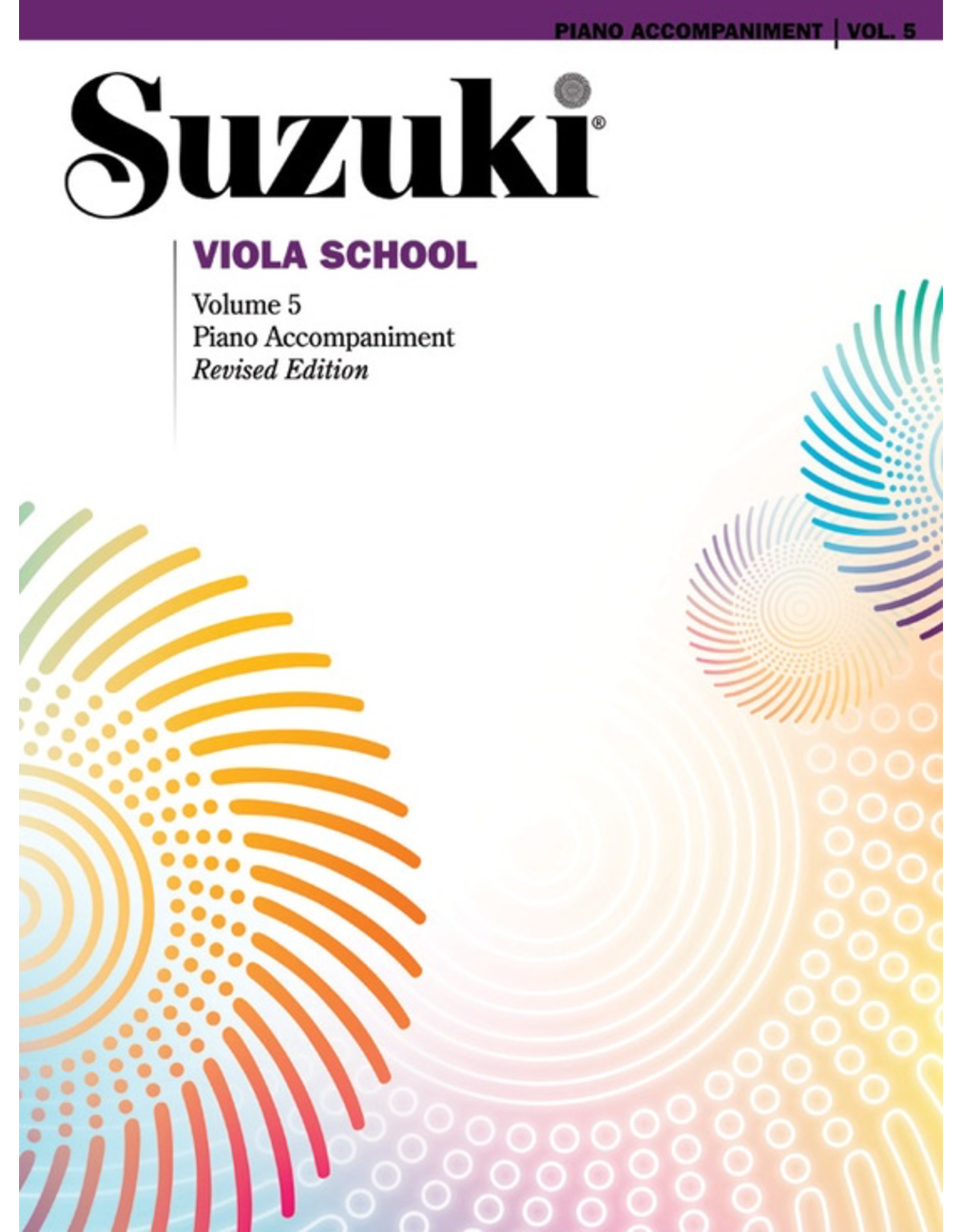Alfred Suzuki Viola School Volume 5 Piano Acc. Revised Edition