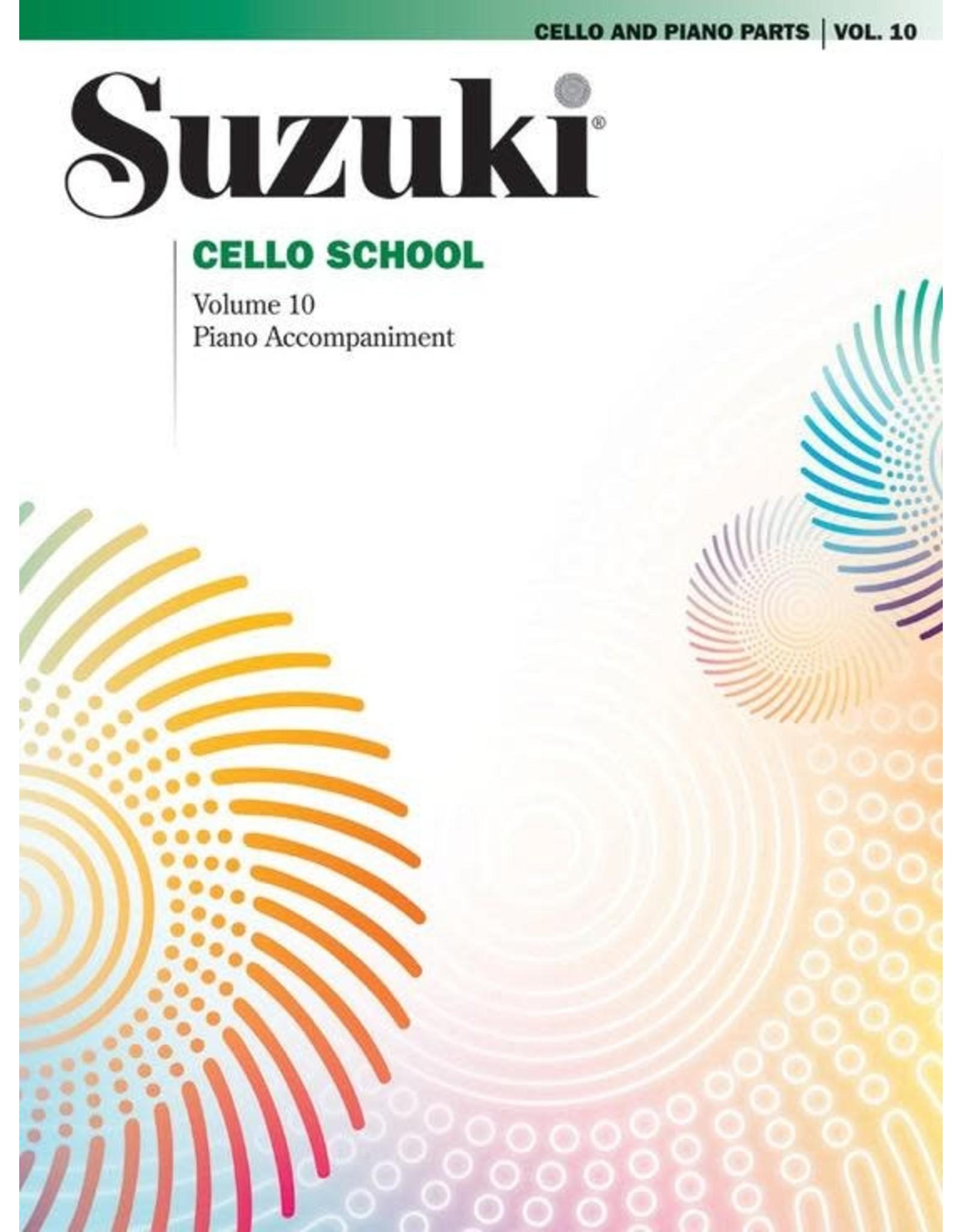 Alfred Suzuki Cello School, Volume 10 - Cello Part w/Piano Accompaniment