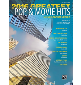 Alfred 2016 Greatest Pop & Movie Hits for Big Note Piano