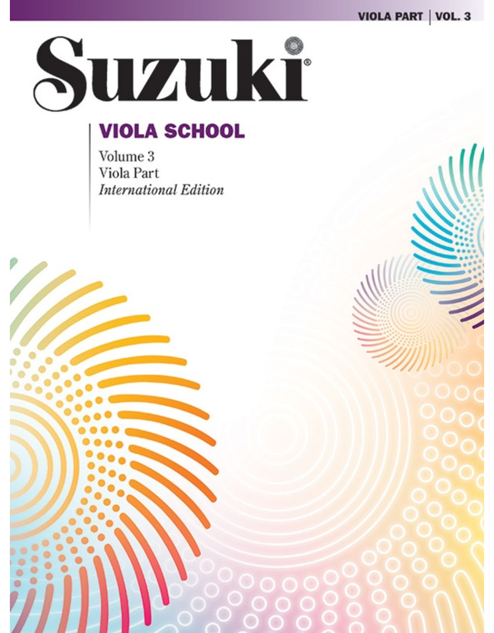 Alfred Suzuki Viola School Revised Volume 3 Book and CD