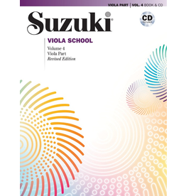 Alfred Suzuki Viola School Revised Volume 4 Book and CD