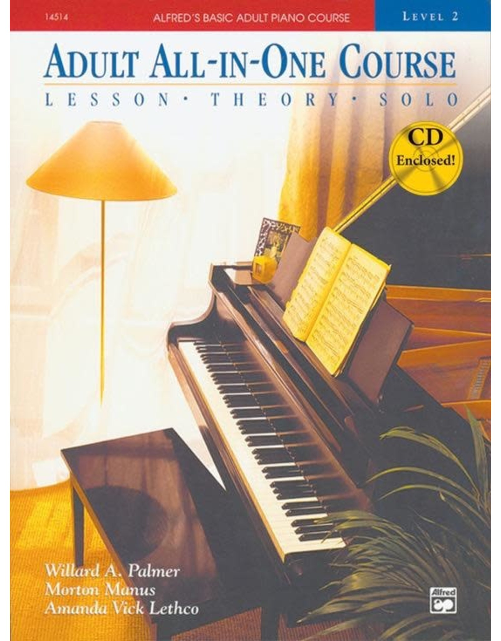 Alfred Alfred's Adult All-In-One Course, Book 2 Book/CD