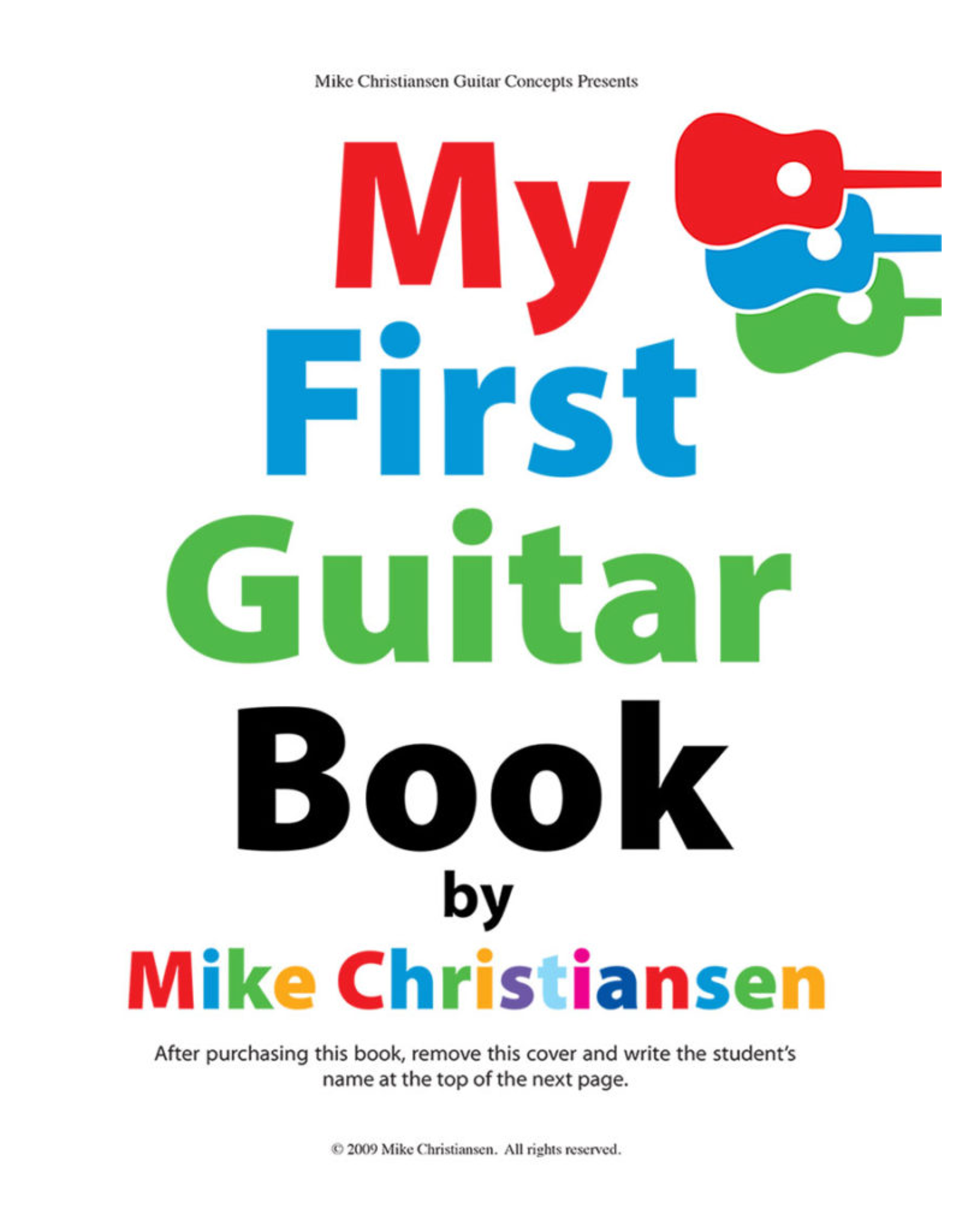 My First Guitar Book by Mike Christiasen