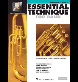 Hal Leonard Essential Technique Book 3 Baritone B.C.