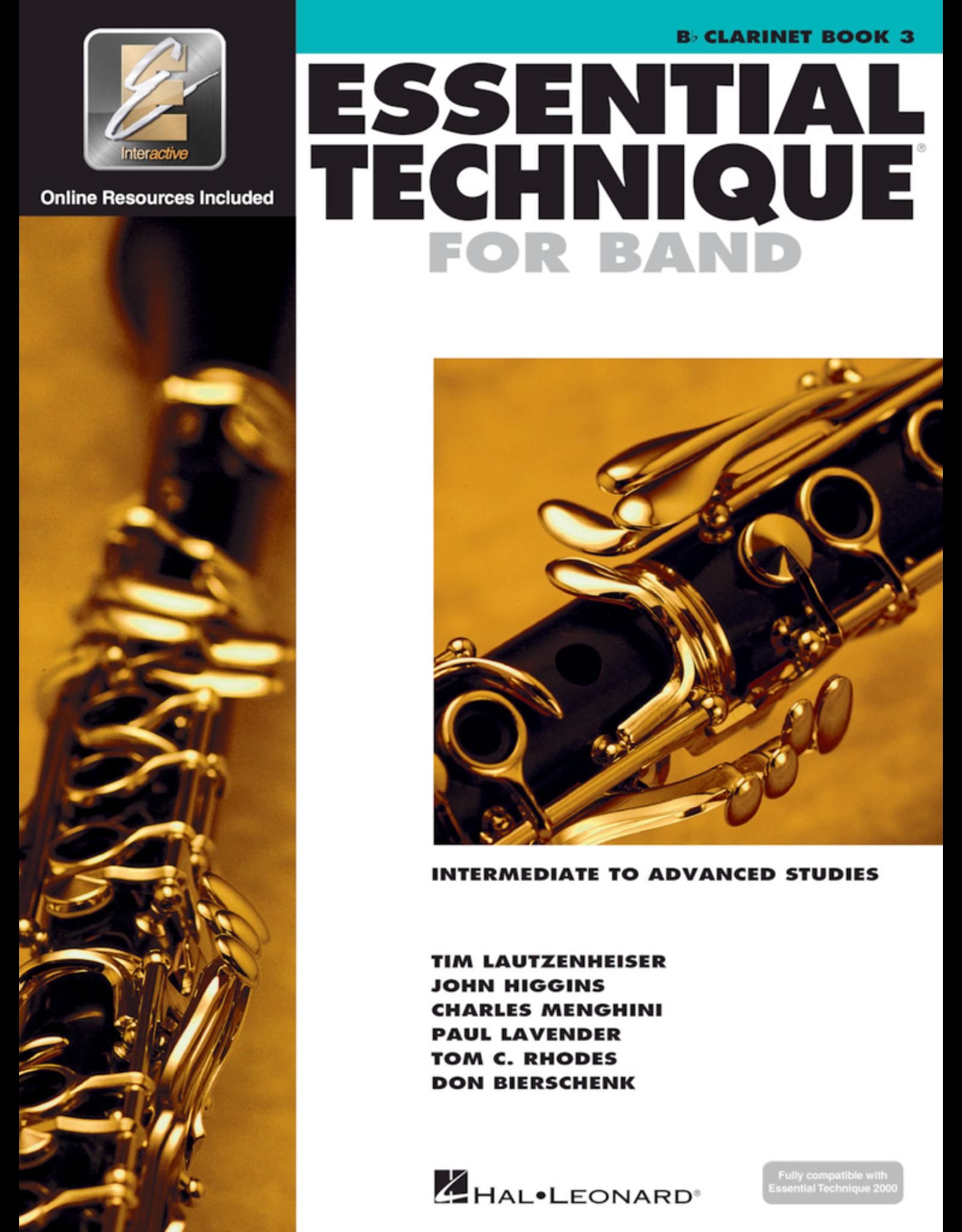 Hal Leonard Essential Technique Book 3 Clarinet