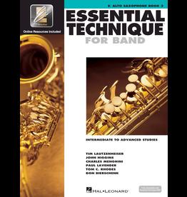 Hal Leonard Essential Technique Book 3 Alto Sax