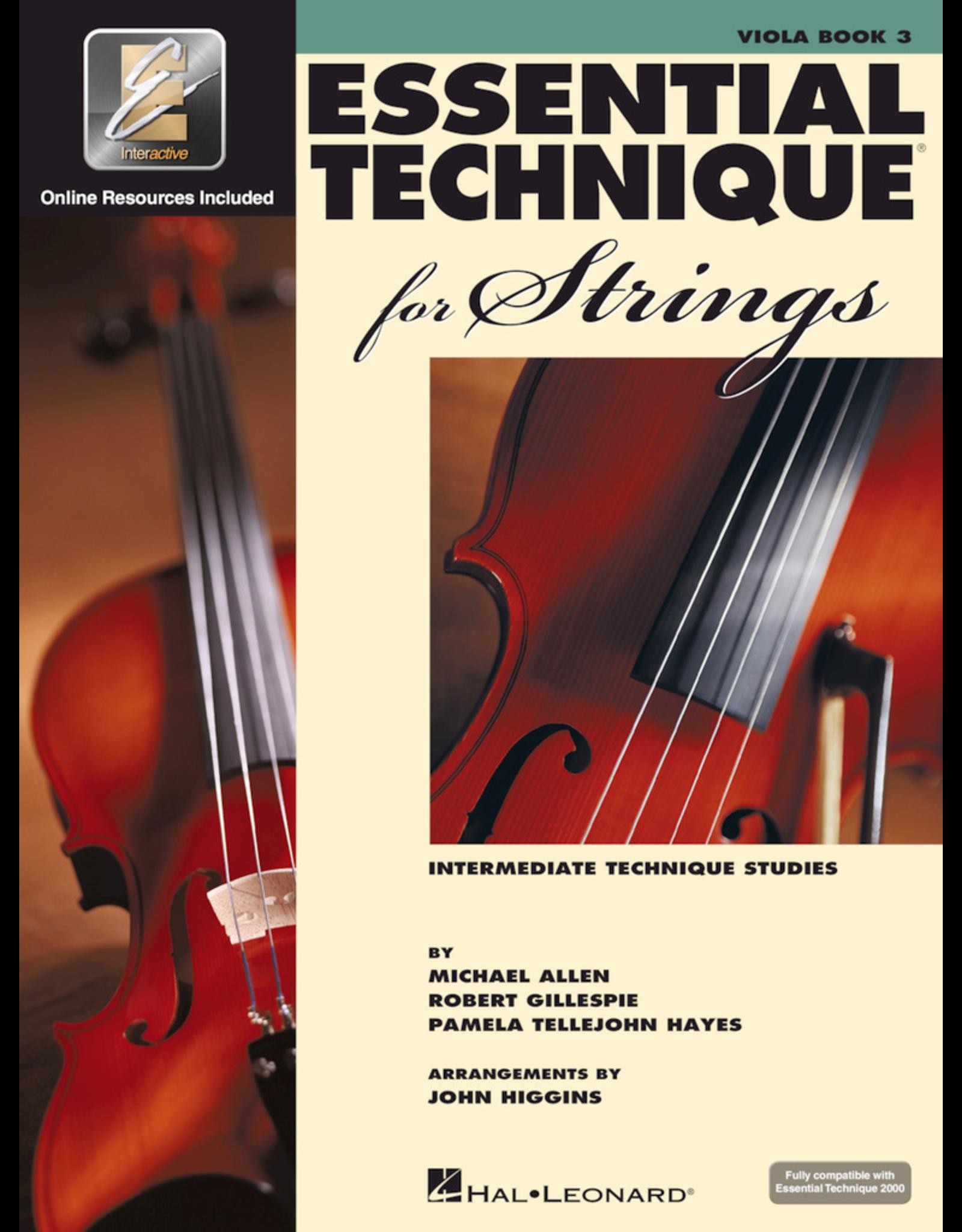Hal Leonard Essential Technique Book 3 Viola